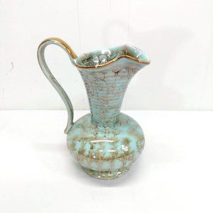 Delft Vintage Handpainted in Holland Gold Turquois